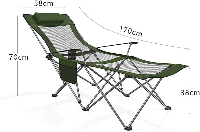LJBOZ Chaise De Camping Portable Chaise Longue De Jardin for La Randonnée, La Plage, La Pêche Et Le Plein Air (MultiCouleure en Option) Chaise de Camping (Couleur   A)
