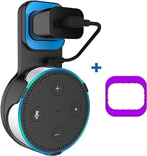 SPORTLINK Dot2 壁掛け ホルダー Dot 第2世代 スマート スピーカー マウント コード収納 スタンド カバー 保護ホルダー Dot2 ケース スピーカースタンド アクセサリー (for Dot2, ブラック)