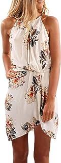Asvivid Women's Summer Halter Neck Floral Print...