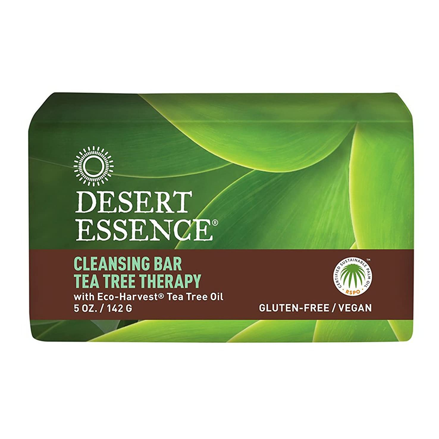 芸術的毎日セメント海外直送品Desert Essence Tea Tree Therapy Cleansing Bar Soap, 5 oz