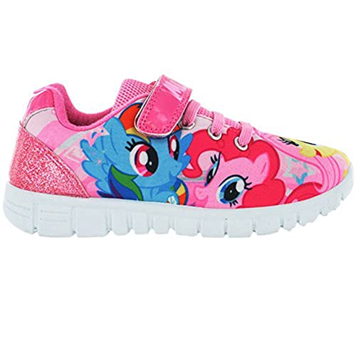 Girls MLP My Little Pony Pink Hook and Loop Trainers UK Sizes 6-12
