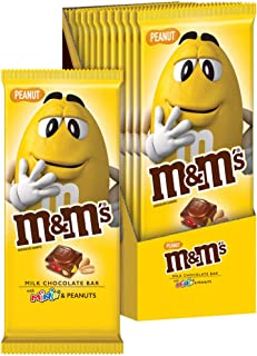 Sponsored Ad - M&M'S Peanut & Minis Milk Chocolate Candy Bar, 3.9 Ounce Bar, Pack of 12