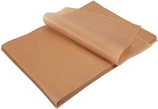 Juvale Parchment Paper Sheets - 200-Count Precut Unbleached Parchment Paper for Baking, Half Sheet Pans, Non-Stick Baking Sheet Paper, Brown, 12 x 16 Inches