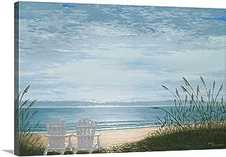 Beach Chairs Canvas Wall Art Print, 48