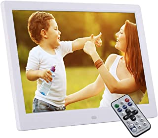 Digital Photo Frame 12.1 Inch Electronic Picture Frame High Resolution 1280×800 Slideshow Remote Control 1080P Video Playe...