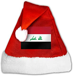Unisex Iraqi Flag Christmas Hat Traditional Santa Xmas Cap