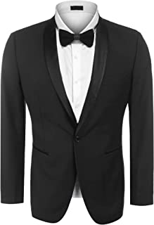 Men's Modern Suit Jacket Blazer One Button Tuxedo for Party,Wedding,Banquet,Prom