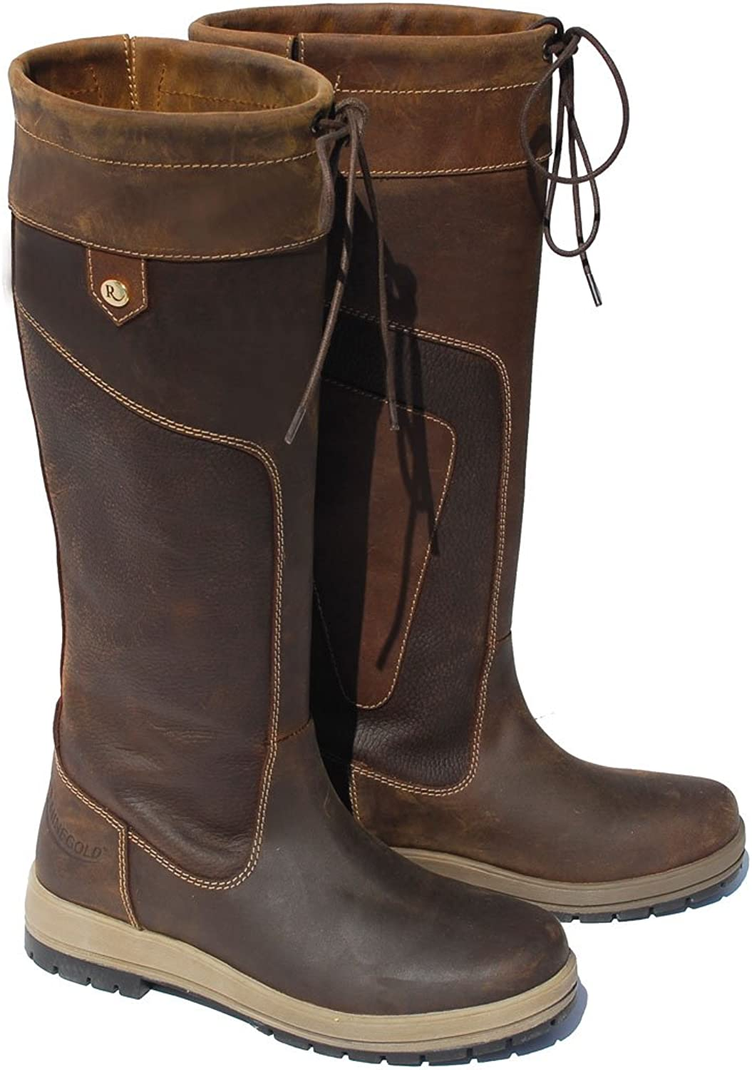 Rhinegold Elite Vermont Waterproof Leather Country Boots