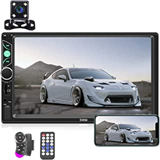 Double Din Car Stereo Radio 7'' HD Touch Screen Car Audio Bluetooth FM Radio USB Car Audio Video Player Support Phone Mirror Link + Car Backup Camera and Steering Wheel Control