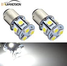 Ruiandsion 2pcs BA15D LED Bulbs Super Bright 6000K White 6-30V 5050 9SMD LED Reverse Backup Turn Signal Tail Light Bulbs