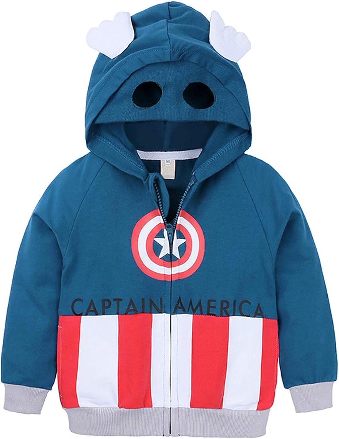 Symunnia Toddler Kids Baby Boys Clothes Spring Autumn Long Sleeve Cartoon Pullover Hoodie Sweatshirt
