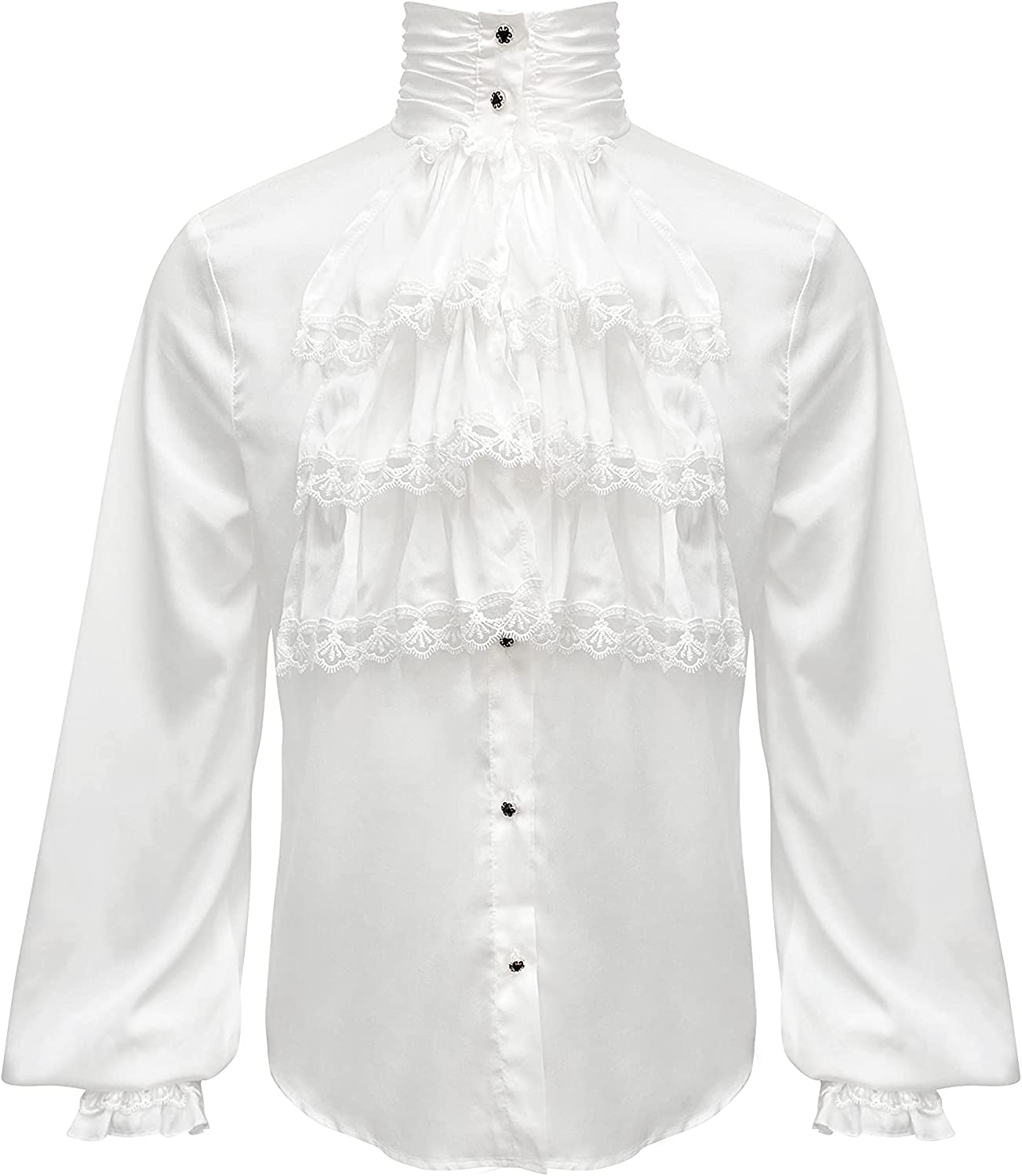 Men's Renaissance Shirt Our shop OFFers the best service Medieval Steampunk Costume Mail order Pirate Tops f