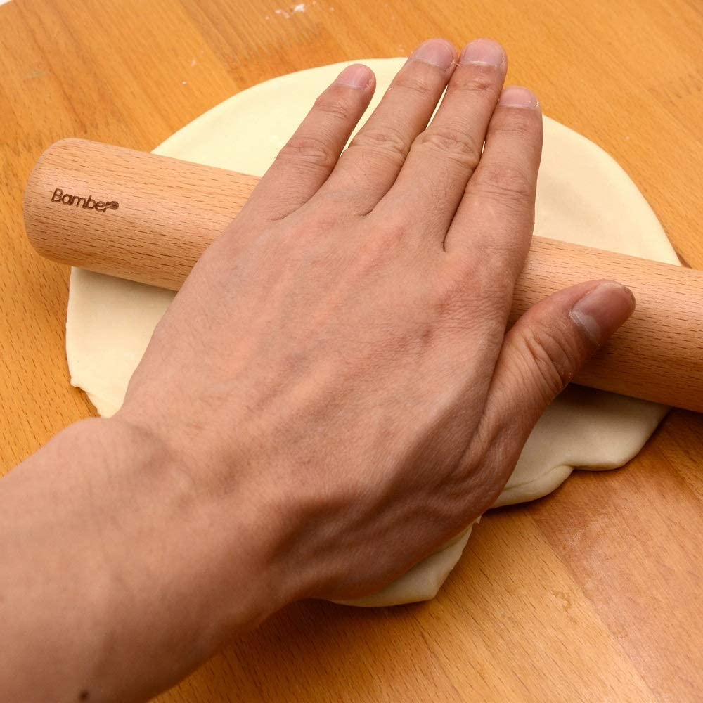 Bamber Wood Rolling Pin 17.3 Inch by 1.7 Inch