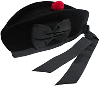 Tartanista Mens Diced & Plain Wool Piper Glengarry Kilt Hats
