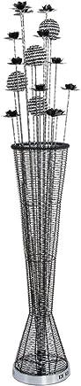 LILY ヨーロッパスタイルのアルミ製の花瓶フロアランプ、黒い瓶の形、現代的でスタイリッシュなダイニングルームリビングルームのベッドルームフロアランプ