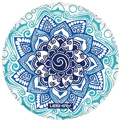 LESHIRY Mouse Pad, Cute Circular Mousepad with Design, Beautiful Parttern Mouse Pads with Stitched Edge, 7.9X7.9 Inch Small Mouse Mat for Laptop and Computer (Mandala 14)