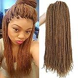 Flyteng 18 inch 8 Packs Senegalese Twist Crochet Braids Hair 30strands/pack High Tempreture Fiber Synthetic Hair Extensions T1B/30…