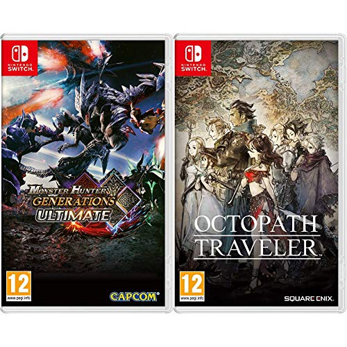 Capcom Monster Hunter Generations Ultimate Nintendo Switch & Square Enix Octopath Traveler 2523749T Nintendo Switch
