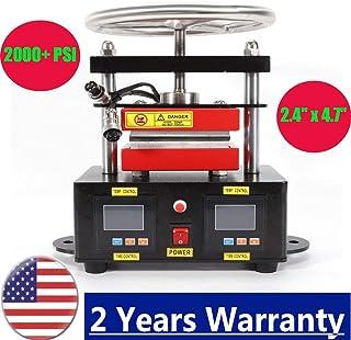 "2000+ PSI Professional Press Hand Crank Dual Heated Plates (2.4"" x 4.7"")"