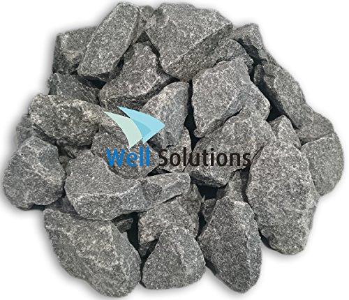 WelaSol Aufguss Saunasteine geprüfte und vorgewaschene Premium Olivin-Diabas Steine für Sauna Ofen...
