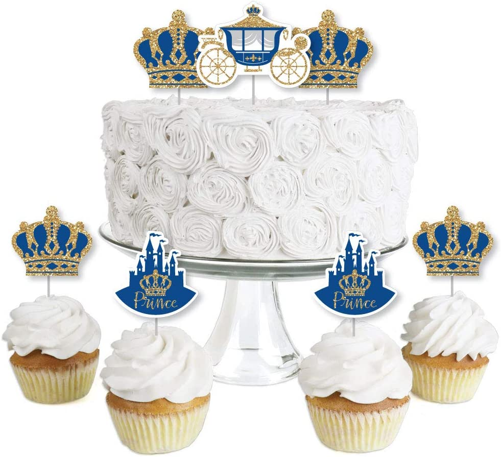 Safety and trust Royal Prince Charming - Dessert Cupcake Shower Max 82% OFF Baby or Toppers