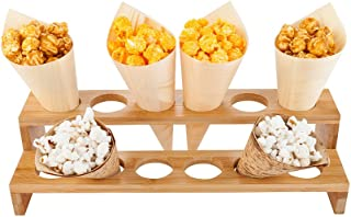 Multi Level Food Cone and Sushi Hand Roll Display Stand: Perfect for Restaurants, Catered Events, and Buffets – Holds 12 Cones – Made from Organic Bamboo – 1ct Box – Restaurantware