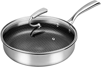 Cooking Pots Pans Frying Pan saucepan Induction pot 304 stainless steel uncoated non-stick household steak egg dumpling pa...