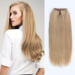 ABH AmazingBeauty Hair Miracle Wire Hair Extensions - Invisible Miracle Wire Remy Human Hair, 12 Dark Dirty Blonde, 20 Inch