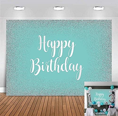 DANIU Telón de fondo azul Tiffany para recién nacido, 2 x 1,5 m, para decoración de mesa de cumpleaños, postre, decoración de mesa para fotomatón