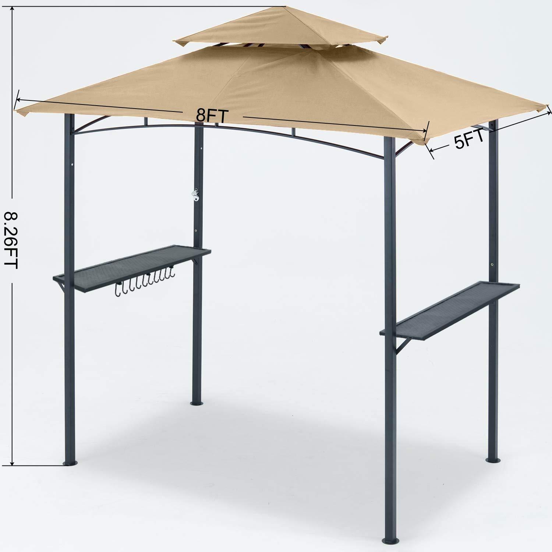 MasterCanopy - Carpa para Parrilla (8 x 5, L-GZ238PST-11): Amazon.es: Jardín