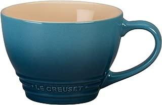 Le Creuset Stoneware Bistro Mug, 14 oz, Marine
