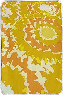 Amazon.com: Jonassk Woolffk Warm Yellow Palm Leaves Soft ...