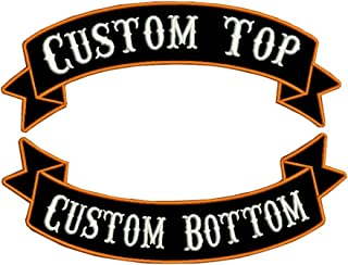 Custom Embroidery rocker Name Patch