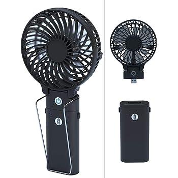 携帯扇風機 手持ち&卓上&モバイルバッテリー3WAY 5200mAhバッテリー内蔵 手持ち扇風機 充電式 「4in1機能搭載」Jacess USB扇風機 折り畳みスタンド機能 最大20時間動作 卓上扇風機 ハンディファン グリップ扇風機 6枚羽根 静音性 USBファン ミニ 小型 熱中症 暑さ対策 オフィス アウトドア用 【PSE認証済】
