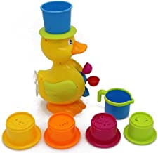 Verzabo Happy Duck Waterfall Bath Toy Play set for Kids That Will Make Bath Time Fun for Kids and Parents