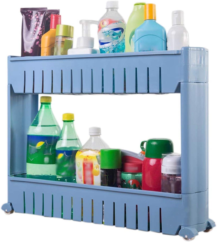 HUYP Kitchen Crevice Rack Refrigerator Slot Storage Rack Floor Bathroom Bathroom