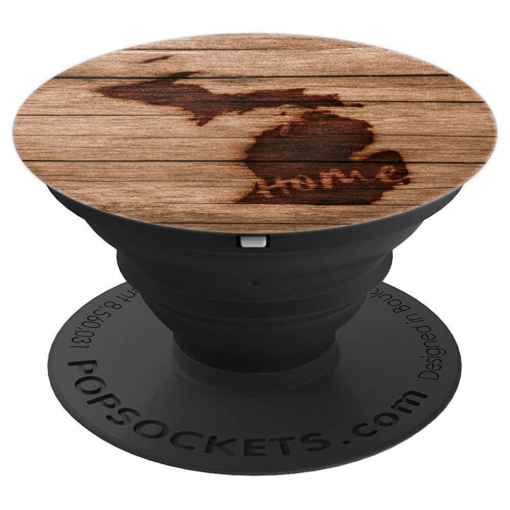 Vintage Michigan Home State Map - PopSockets Grip and Stand for Phones and Tablets trg683581