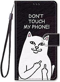 zl one Kompatibel med/ersättning för telefonfodral Nokia C2 PU-läderskydd söta målade kortplatser plånbok flip fodral (b18)