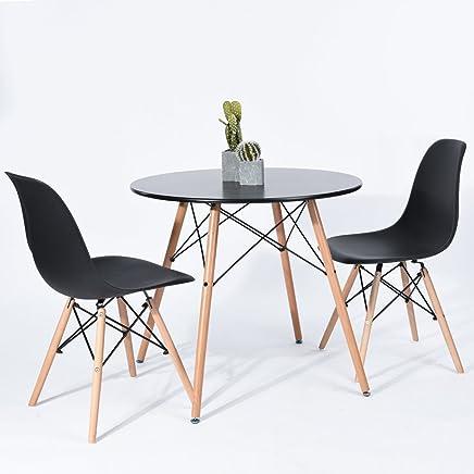 Amazon Fr Ensemble Table Et 4 Chaises Scandinave