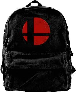 Mochila de lona con logo de los Super Smash Brothers, para gimnasio, senderismo, portátil, para hombres y mujeres