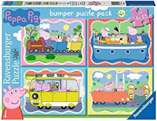 Ravensburger 069491 Puzzle Peppa Pig, 4 Puzzle de 42 Piezas, Rompecabezas para Niños y Niñas, Edad Recomandada 4+