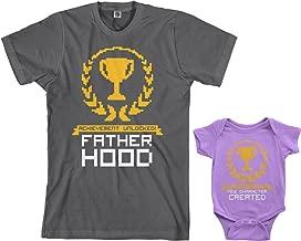 Threadrock Achievement Unlocked Infant Bodysuit & Men's T-Shirt Matching Set