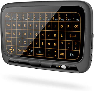 2.4GHz Backlit Mini Wireless Keyboard Full Touchpad with Backlight Remote Control for PC, Android TV Box - H18 Plus