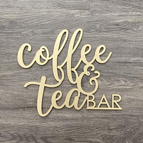 Ced454sy Wandschild für Kaffee, Teebar, klein, 30,5 x 25,4 cm, ohne Rückwand, Küche, Büro, Break Room Home Wall Drink Decor Sign Coffee Station Bar