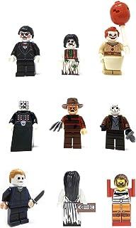 Modbrix 9 x Mini Figures Set Horror All Stars Freddy Jason Michael Hannibal, Pinhead, Billy Samara & Regan