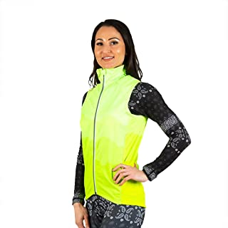SHEBEEST Women's Light-Weight, Waterproof and Windproof Cycling/Biking Faded Invest