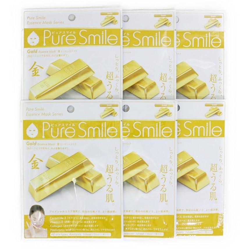 船乗り微妙膿瘍Pure Smile ピュアスマイル エッセンスマスク 金 6枚セット