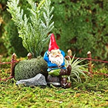 My New Fairy Miniature Expressions Miniature Fairy Garden Rufus The Napping GNOME (New) - My Mini Garden Dollhouse Accesso...