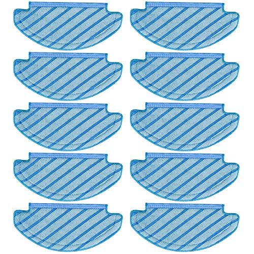 Preisvergleich Produktbild K KUMEED 10 Stück Tücher Ersatz Reinigungstuch Wischtuch Wischtücher für Ecovacs DEEBOT OZMO T8 AIVI Roboter Staubsauger