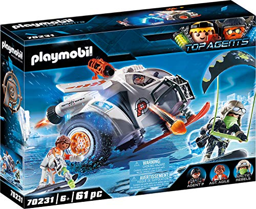 PLAYMOBIL Top Agents 70231 Spy Team Planeador